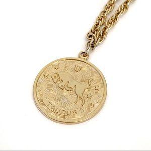 Vintage Sarah Coventry Taurus Medallion Necklace